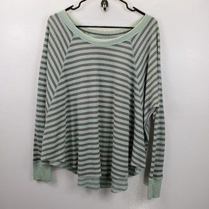 We the Free Striped Crewneck Long sleeve top